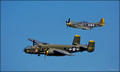 P-51 MUSTANG (top)  B-25 MITCHELL BOMBER